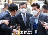 '계열사 부당지원' 박삼구 구속심사 출석…