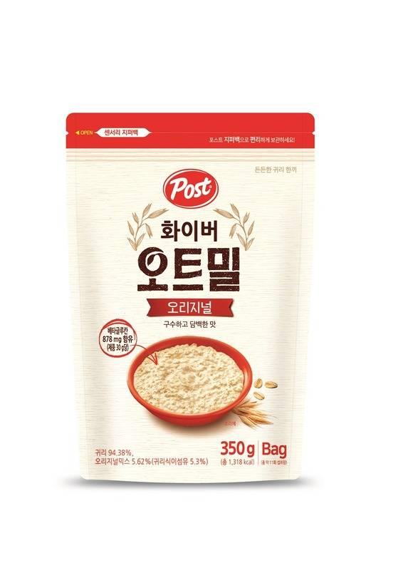 동서식품이 구수하고 담백한 맛의 핫 시리얼 포스트 화이버 오트밀 오리지널 350g을 출시했다. /동서식품 제공