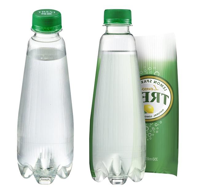 롯데칠성음료가 탄산수 브랜드 트레비의 라벨을 없앤 트레비 ECO 350mL 제품을 출시했다. /롯데칠성음료 제공