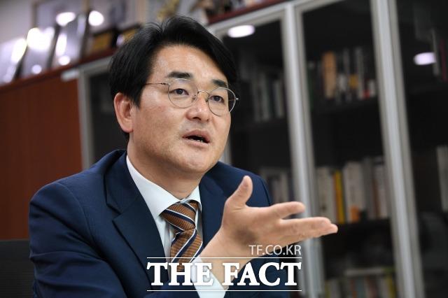 박 의원은 흩어져 있는 국민연금과 각종 연기금을 모아 국부 펀드를 조성하고 개인 계좌를 연동해 수익률을 가져가도록 하는 국민자산 5억 성공시대 펀드 7% 적립계좌 공약을 제시했다. /남윤호 기자
