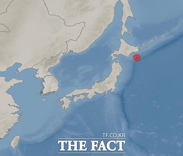 기상청에 따르면 16일 12시 24분경 일본 홋카이도 근처에서 6.1 규모의 지진이 발생했다. /기상청 제공