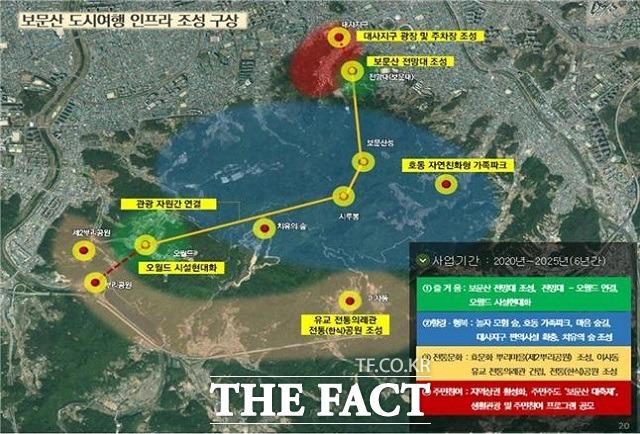 보문산 도시여행 인프라 조성 계획 구상도 / 대전시 제공