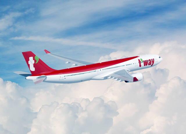 올해 1분기 티웨이항공의 영업손실이 2배 확대됐다. /티웨이항공 제공