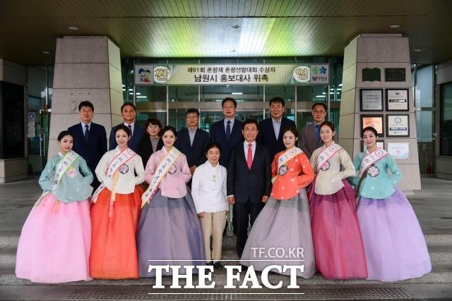 제91회 전국춘향선발대회 수상자 6명이 전북 남원시 홍보대사로 위촉됐다. /남원시 제공