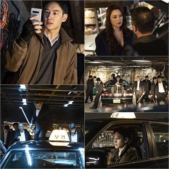 21일 SBS 드라마 모범택시 제작진은 이제훈과 차지연의 대결 구도가 담긴 13회 스틸 컷을 공개했다. /SBS 모범택시 제작진 제공