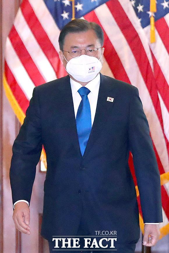 바이든 행정부 출범 이후 첫 미국을 방문한 문재인 대통령.