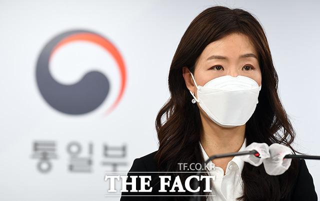 이종주 통일부 대변인이 24일 오전 서울 종로구 세종대로 정부서울청사에서 현안 관련 정례 브리핑을 하고 있다./임영무 기자
