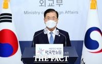방미 결과 브리핑하는 정의용 외교부 장관 [TF사진관]