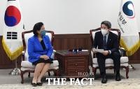 이인영 장관, 현정은 회장과 남북경협·금강산 사업 논의 [포토]