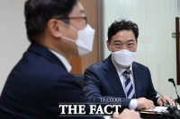 검찰 인사 논의들어간 박범계-김오수 [포토]