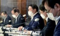 국무총리와의 간담회에서 발언하는 최태원 대한상의 회장 [포토]