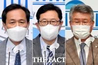 '억울합니다'…우상호-김한정-김회재, 부동산 투기 의혹 해명 기자회견 [TF사진관]