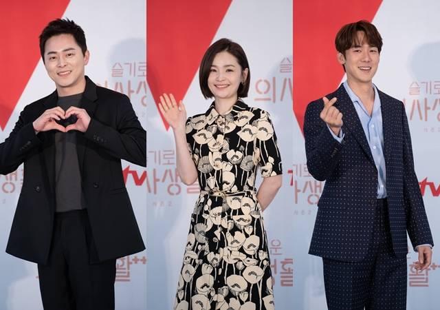 조정석 전미도 유연석(왼쪽 부터)는 한층 더 깊어진 99즈 5인방의 케미와 호흡을 예고했다. /tvN 제공