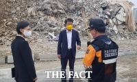 '광주 건물 붕괴 사고' 현장 찾은 정의당 [TF사진관]