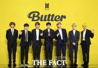 BTS '버터', 빌보드 싱글차트 3주 연속 1위…신기록 행진