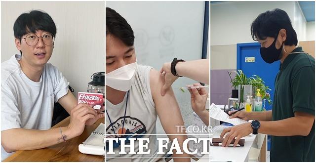 더팩트 취재진 3명이 10일 얀센 백신 접종을 시작으로 48시간 생생한 체험기를 진행하고 있다.