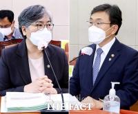 국회 보건복지위 전체회의 참석한 정은경-권덕철 [TF사진관]