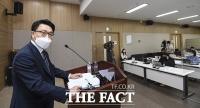취임 후 첫 기자간담회 갖는 김진욱 공수처장 [포토]