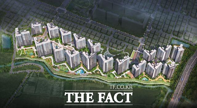 현대건설이 포항 남구에 이어 북구에 '힐스테이트 초곡' 1,866세대를 이달 중 분양 예정이다. 사진은 힐스테이트 초곡 조감도/현대건설 제공
