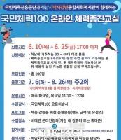 국민체육진흥공단, 국민체력100 온라인 체력증진교실 운영