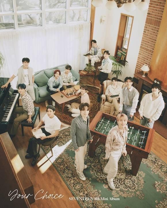 세븐틴이 지난 18일에 발매한 8번째 미니 앨범으로 쿼드러플 밀리언셀러가 됐다. /플레디스엔터테인먼트 제공