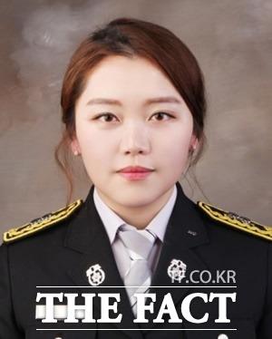 이민영 소방교. 보은소방서 소속인 이 소방교는 충북 첫 여성 인명구조사 타이틀을 보유하고 있다. / 충북도 제공