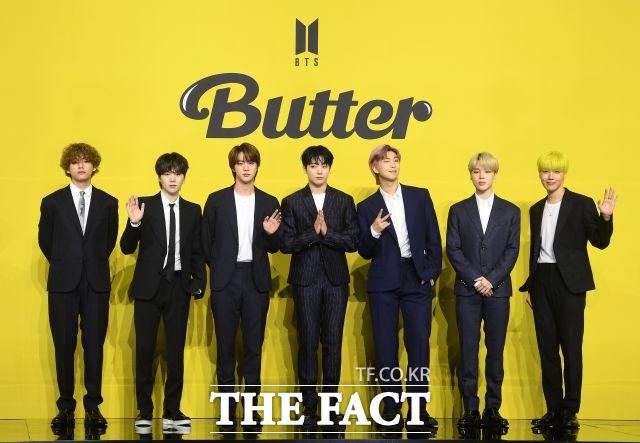 그룹 방탄소년단이 신곡 Butter로 빌보드 메인 싱글차트인 핫 100에서 4주 연속 정상에 등극했다. /이새롬 기자