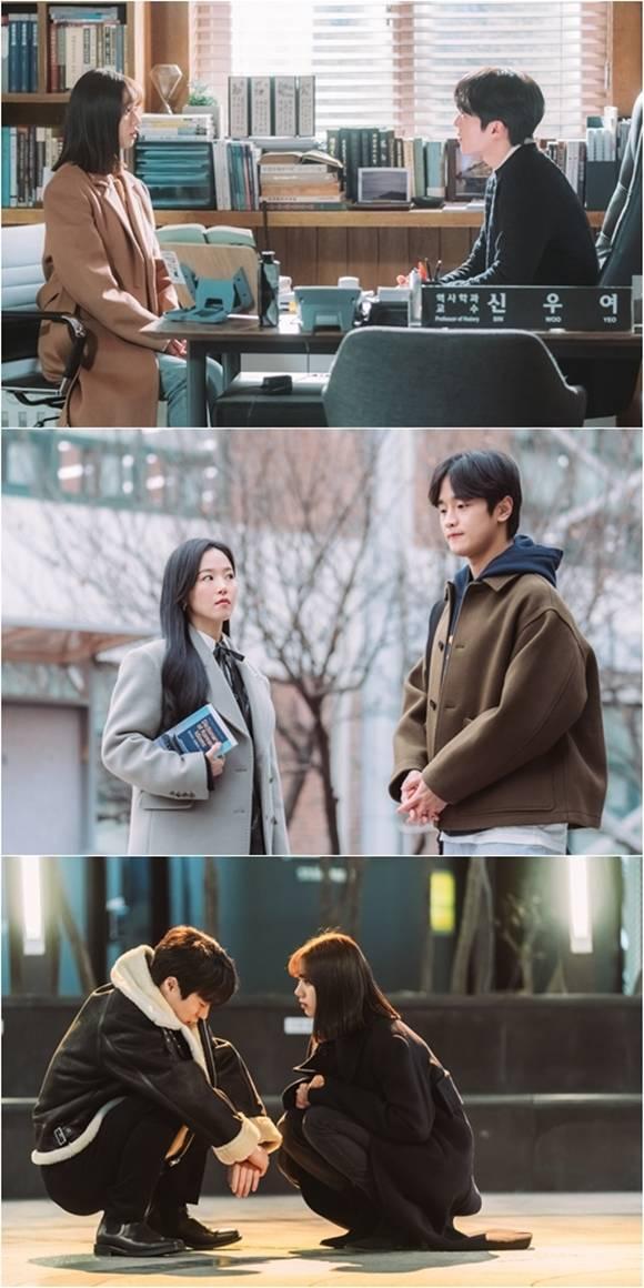 2막을 맞아 양혜선과 도재진은 서로의 향한 관심이 호감으로 바뀌며 극의 활력을 더할 예정이다. /tvN 제공