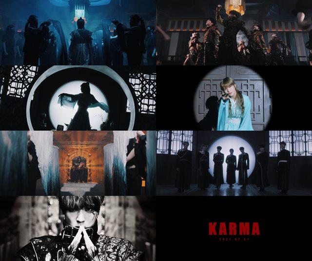 보이그룹 킹덤(KINGDOM)이 두 번째 미니앨범 히스토리 오브 킹덤 : 파트 2. 치우의 타이틀곡 카르마 콘셉트 필름을 공개했다.
