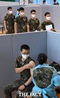 코로나19 백신 접종하는 30세 미만 군 장병들 [TF사진관]