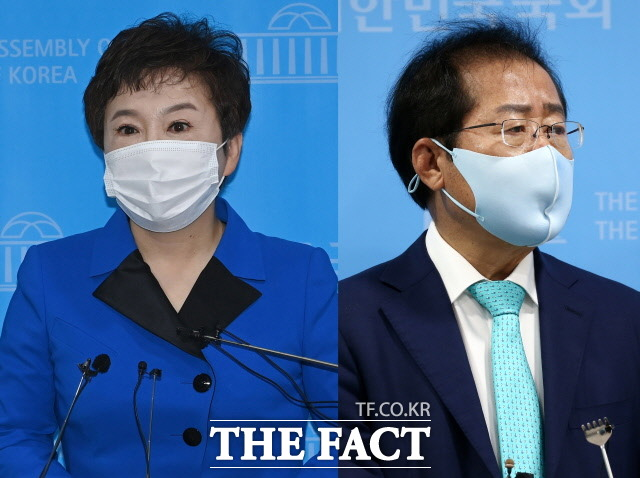 국민의힘 정미경 최고위원, 홍준표 의원은 김건희 씨의 직접 대응에 대해 응대하지 말았어야 했다고 아쉬움을 드러냈다. /남윤호·이선화 기자