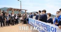 민주당 지도부 가덕도신공항 현장 방문…현안사업 예산 지원 '약속'