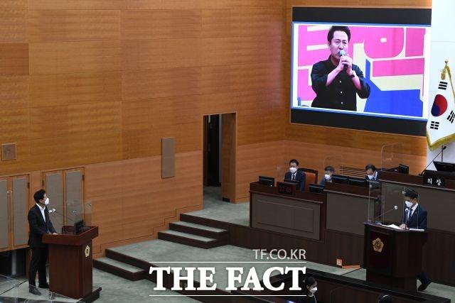 서울시의회 110석 중 101석을 차지하는 더불어민주당 의원들이 교육플랫폼 사업을 반대했으나 추경안 예결위에서 일부 삭감된 상태로 가결됐다. /임세준 기자