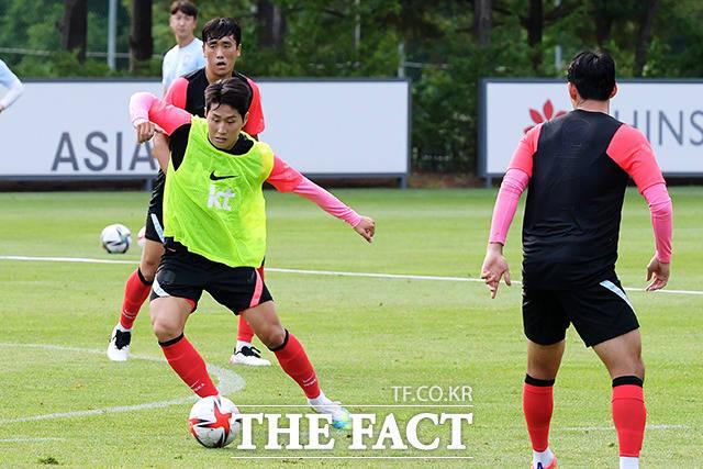 연습경기 시작한 올림픽 축구대표팀