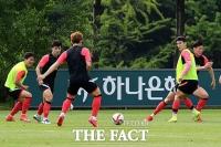 도쿄올림픽 앞두고 훈련 돌입한 올림픽 축구대표팀 [TF사진관]
