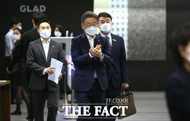 국민의 최대 관심사인 부동산 관련 토론회에 참석한 이재명 경기지사.