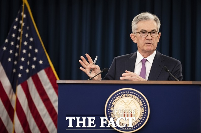 미국 중앙은행인 연방준비제도(Fed)가 연방공개시장위원회의 6월 회의록을 공개했다. 사진은 제롬 파월 연준 의장 /AP.뉴시스