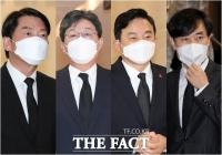 최재형 부친 빈소 찾은 야권 대선 주자들 [TF사진관]