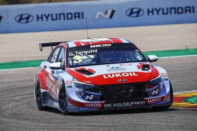 현대차의 엘란트라 N TCR이 글로벌 투어링카 대회인 2021 WTCR에서 개막전에 이어 또다시 우승을 차지했다. /현대차 제공