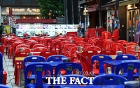 '4단계 거리두기 시행 첫날'…인파 사라진 명동 [TF사진관]