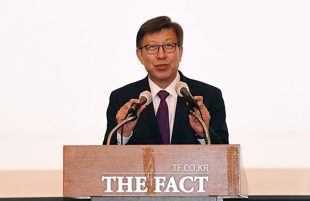 박형준 부산시장이 인사말을 하고 있다.
