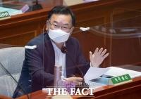 '소득 하위 80% 지원'…김부겸 '상위 20%는 양보하는게 어떤지 판단' [TF사진관]