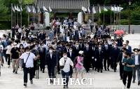 '인파가 우르르~'…윤석열 광주 방문에 몰려든 지지자들 [포토]