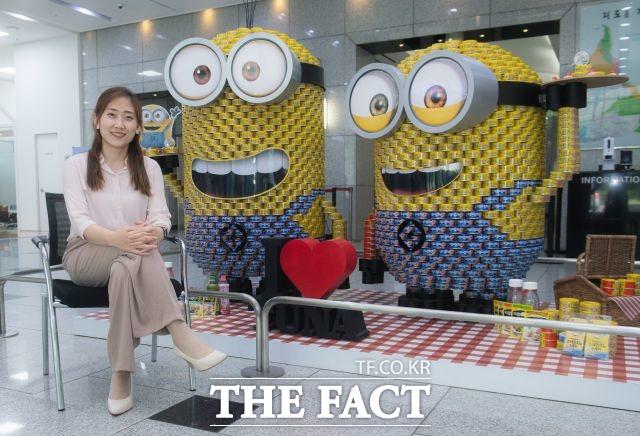 박소혜 과장은 김치참치를 기점으로 해외 시장에서 한국 고유의 맛을 알리는 데 주력할 에정이라고 설명했다. /이동률 기자