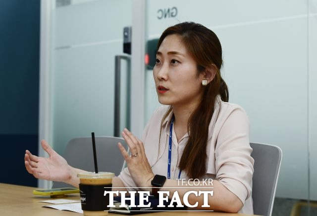 박소혜 과장은 MZ세대를 겨냥한 다양하고 참신한 제품과 마케팅으로 동원참치의 명성을 이어가는 데 집중하고 있다고 설명했다. /이동률 기자
