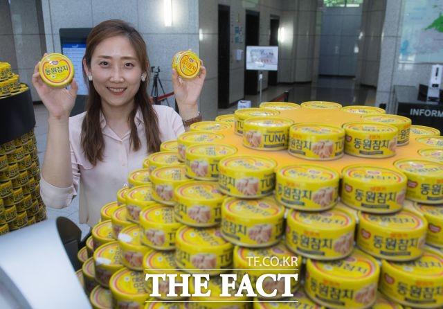 동원참치 브랜드 카테고리를 담당하고 있는 박소혜 과장은 동원참치의 가장 큰 차별점으로 품질을 꼽았다. /이동률 기자