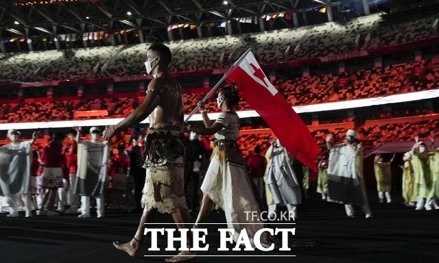 리우올림픽에서 태권도 종목에 출전했던 타우파토푸아는 평창동계올림픽 크로스컨트리 종목에 이어, 이번엔 다시 태권도 종목 대표로 출전한다. /도쿄=AP.뉴시스