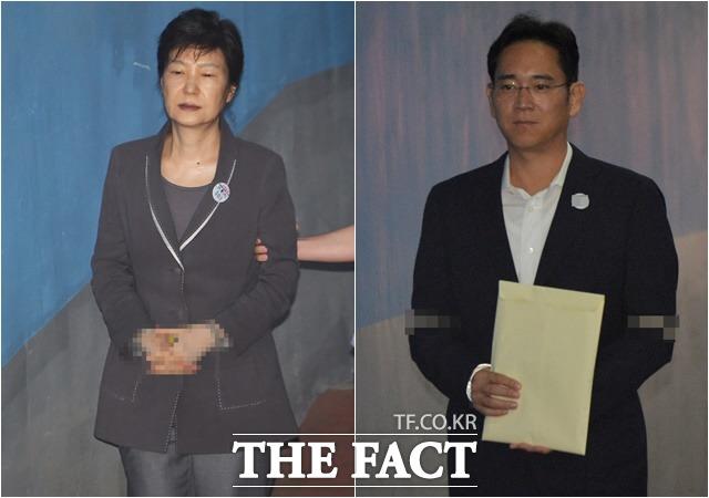 박근혜 전 대통령과 이재용 삼성전자 부회장의 가석방 여부가 정치권을 뜨겁게 달구고 있다. /더팩트 DB