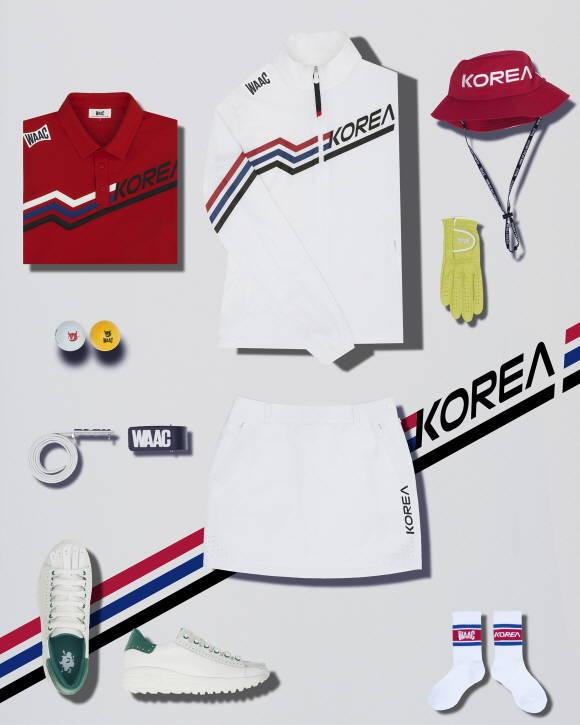 코오롱FnC의 왁이 도쿄올림픽 골프 국가대표 유니폼 지원 기념 프로모션을 진행한다. /코오롱FnC 제공