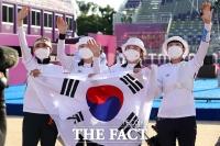 '올림픽 단체전 9연패'…'새역사 쓴 한국 女 양궁' [TF사진관]